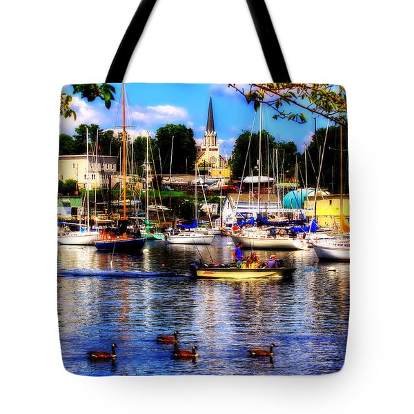 Summertime On The Harbor Tote Bag by Aurelio Zucco