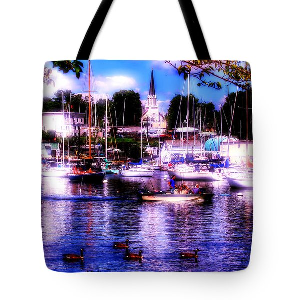Tote Bag featuring the photograph Summertime On The Harbor II by Aurelio Zucco