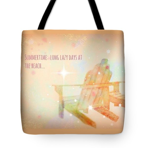 Tote Bag featuring the photograph Summertime by Robin Regan