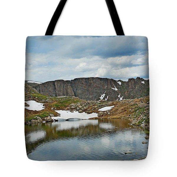 Summit Lake In Summer Tote Bag