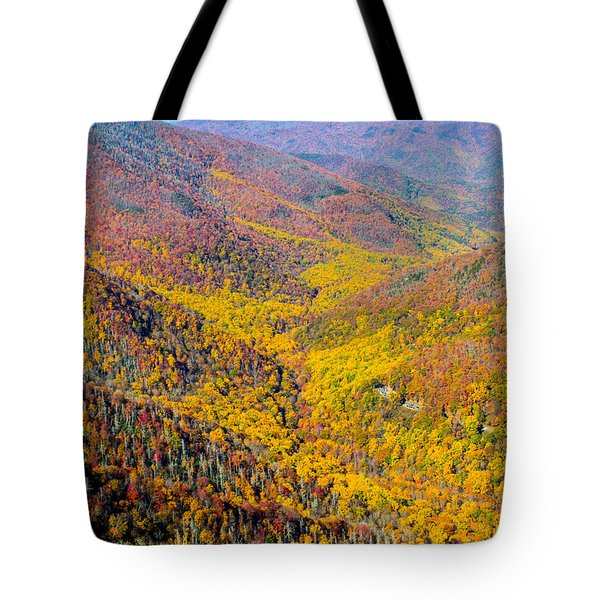 Summit View - Chimney Tops Tote Bag