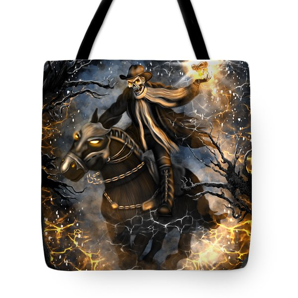 Summoned Skull Fantasy Art Tote Bag