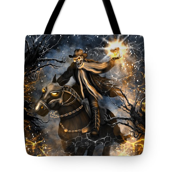 Summoned Skull Fantasy Art Tote Bag