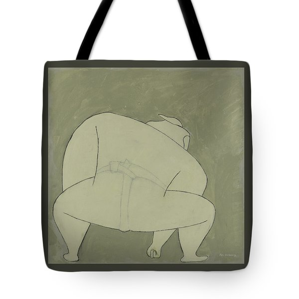 Tote Bag featuring the painting Sumo Wrestler by Ben Gertsberg