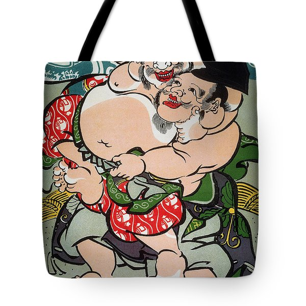 Sumo Wrestling Tote Bag by Granger
