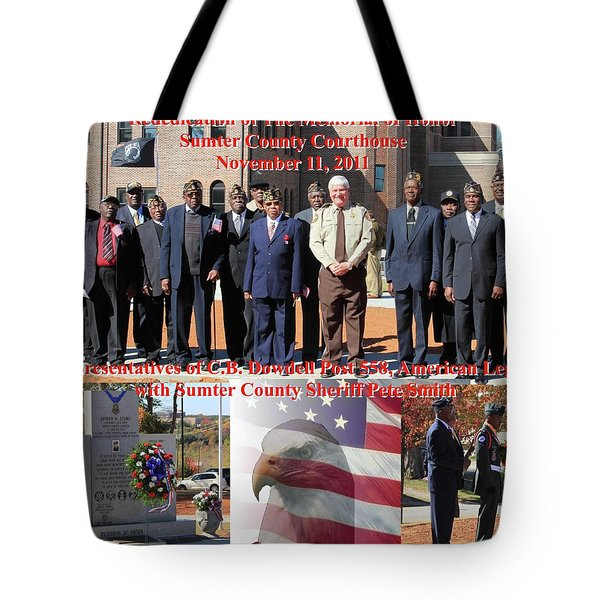 Tote Bag featuring the photograph Sumter County Memorial Of Honor by Jerry Battle
