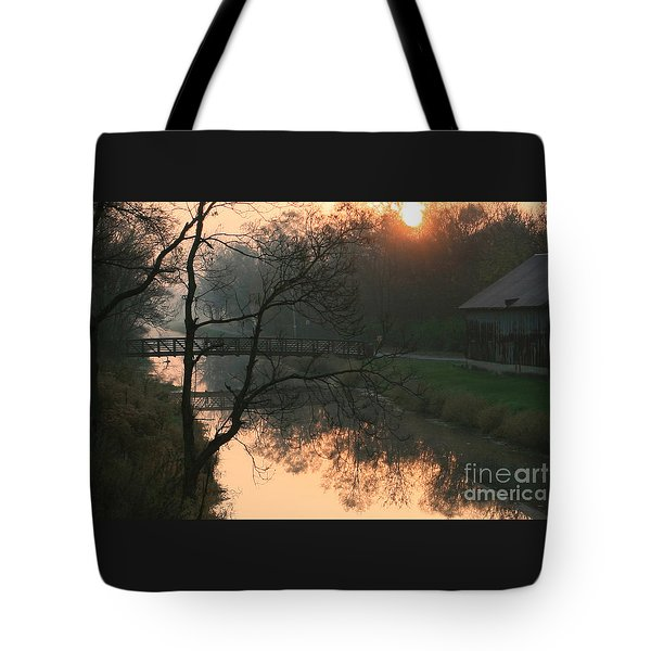 Sun Above The Trees Tote Bag