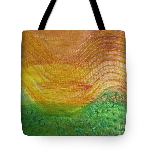 Sun And Grass In Harmony Tote Bag
