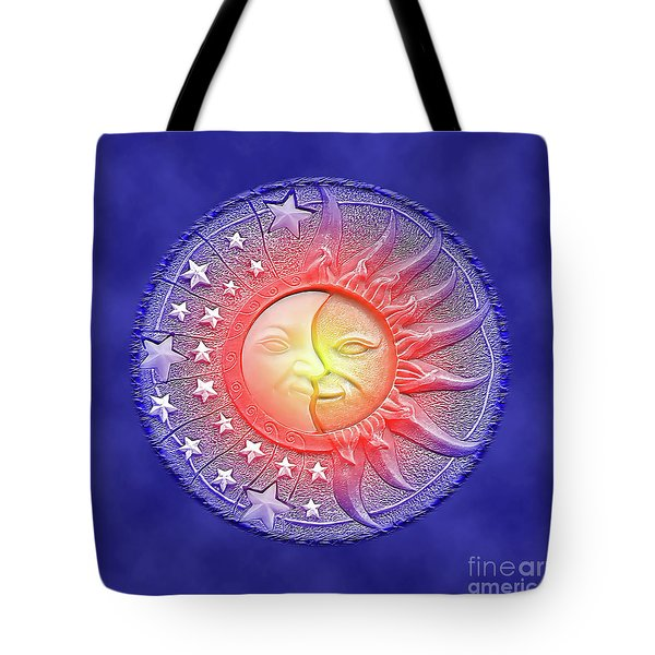 Sun And Moon - Day And Night Tote Bag