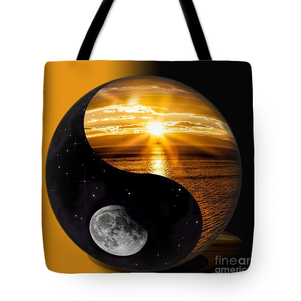Sun And Moon - Yin And Yang Tote Bag