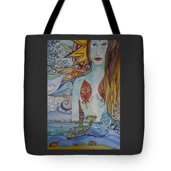 Sun And Sea Godess Tote Bag