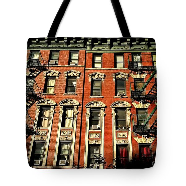 Sun And Shadow - The Rhythm Of New York Tote Bag by Miriam Danar
