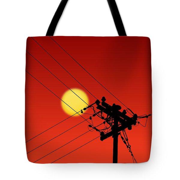 Sun And Silhouette Tote Bag