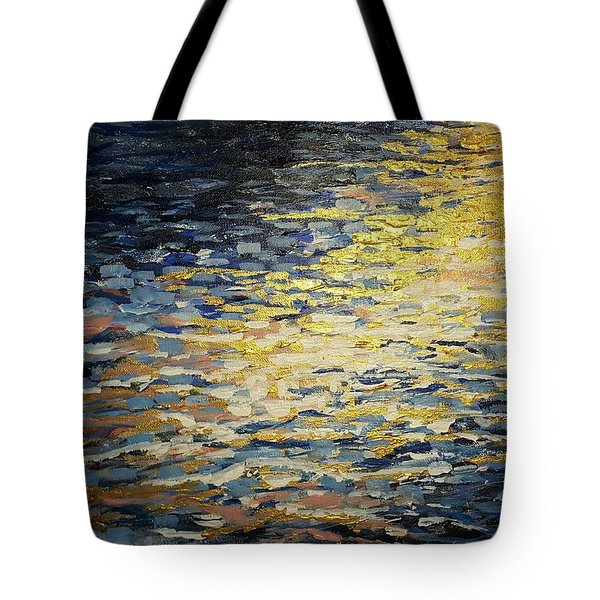 Sun And Wind On Water Tote Bag