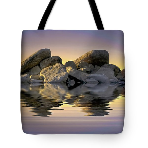 Sun Bathed Rocks Tote Bag