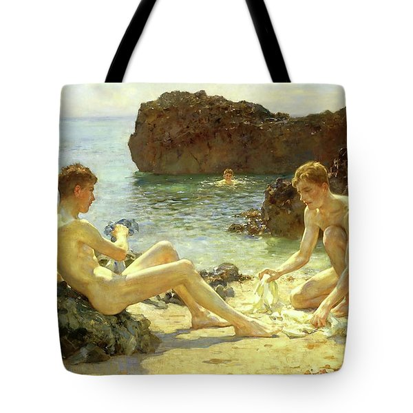 Sun Bathers Tote Bag by Henry Scott Tuke