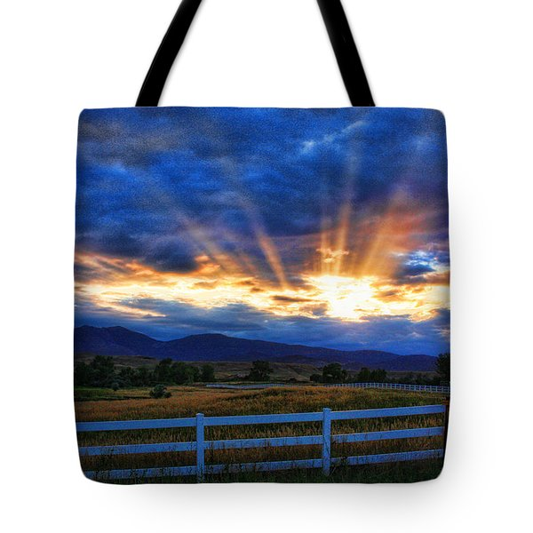 Sun Beams In The Sky At Sunset Tote Bag by James BO  Insogna