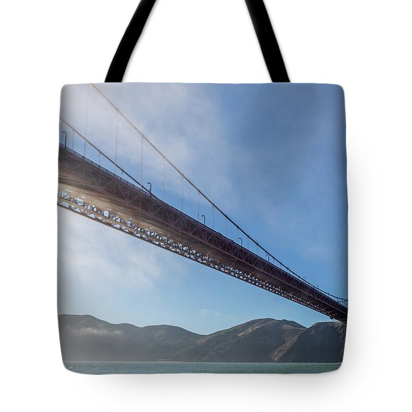 Sun Beams Through The Golden Gate Tote Bag by Scott Campbell
