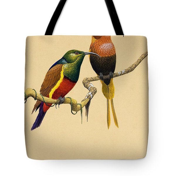 Sun Birds Tote Bag by English School