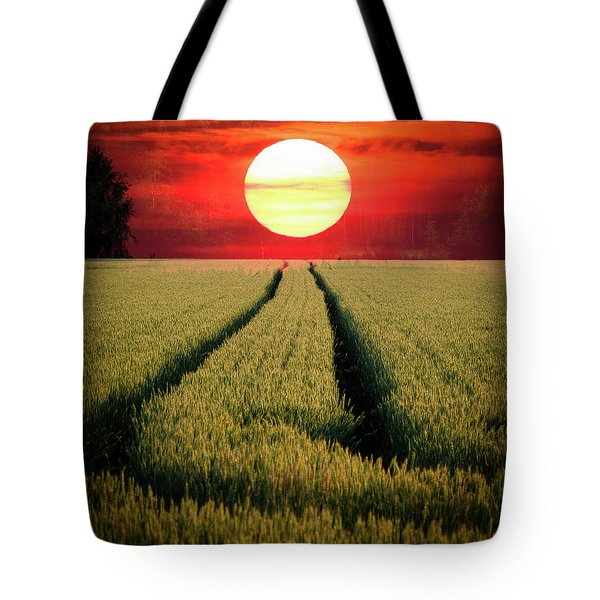Sun Burn Tote Bag by Teemu Tretjakov