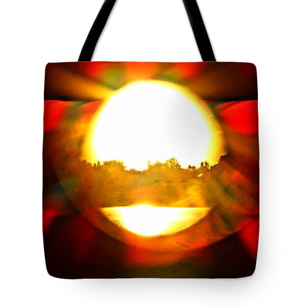 Tote Bag featuring the photograph Sun Burst by Eric Dee