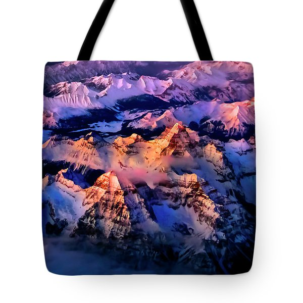 Tote Bag featuring the photograph Sun Catcher - Assiniboine by John Poon
