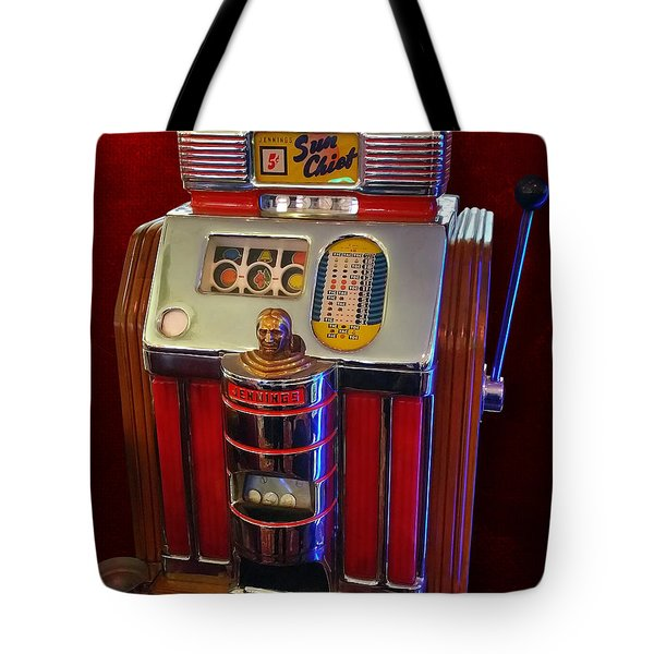 Sun Chief Vintage Slot Machine Tote Bag