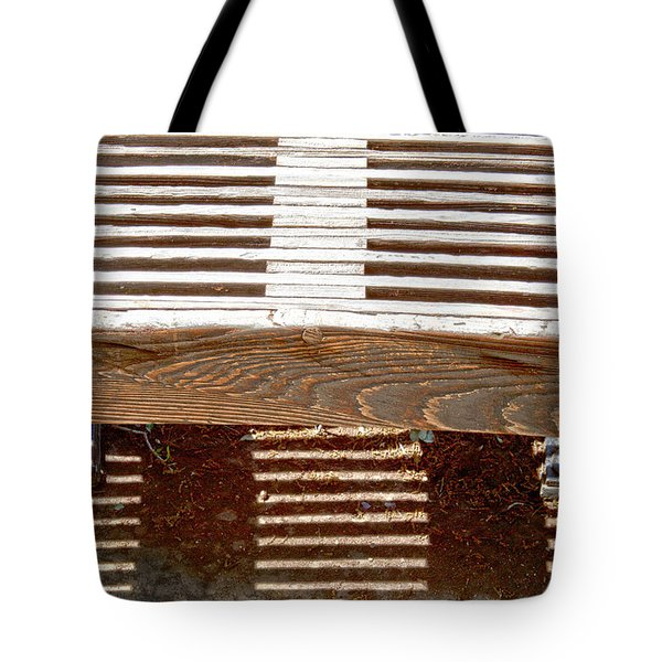Sun Drenched Bench Tote Bag