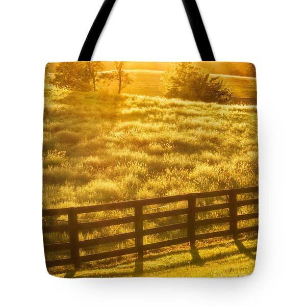 Sun-drenched Pasture Tote Bag by Mark Miller