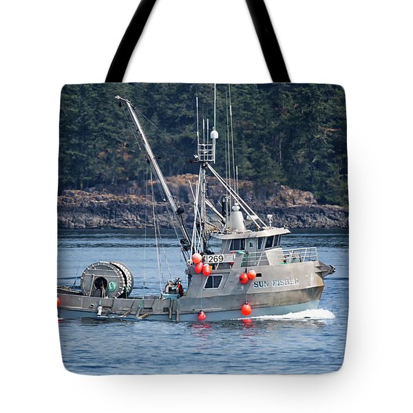 Sun Fisher Off Campbell River Tote Bag