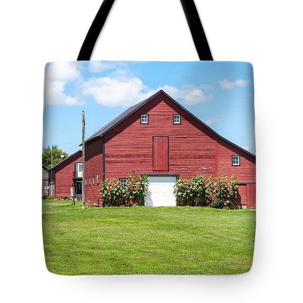 Tote Bag featuring the photograph Sun Flower Barn by Edward Peterson