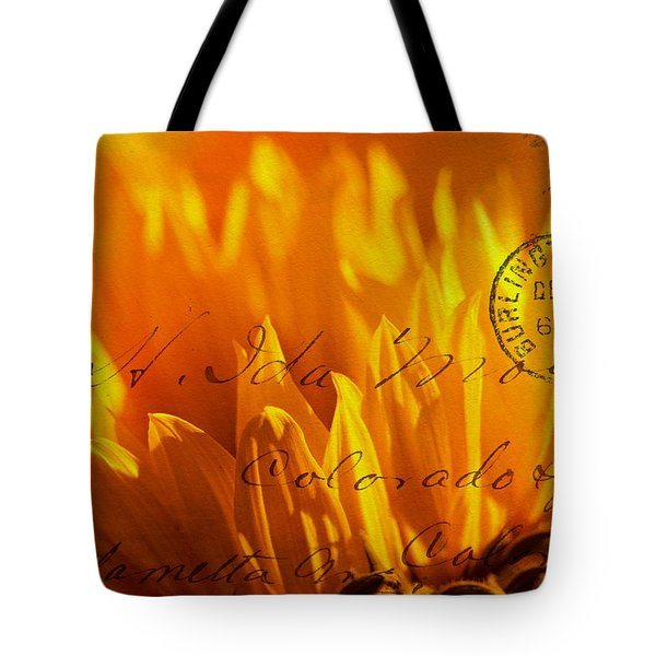 Tote Bag featuring the photograph Sun Flower Envelope by Michael Hope