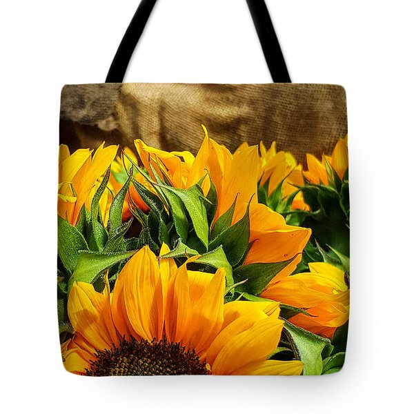 Sun Flowers And Tomatoes Tote Bag by Bruce Carpenter