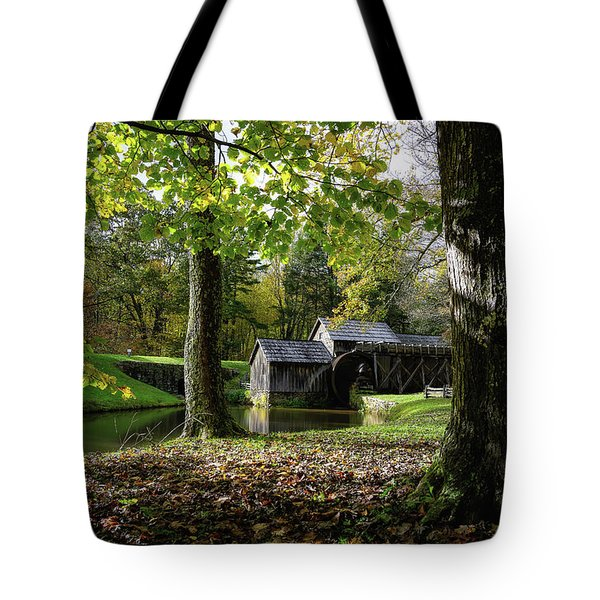 Sun Going Down At The Mill Tote Bag