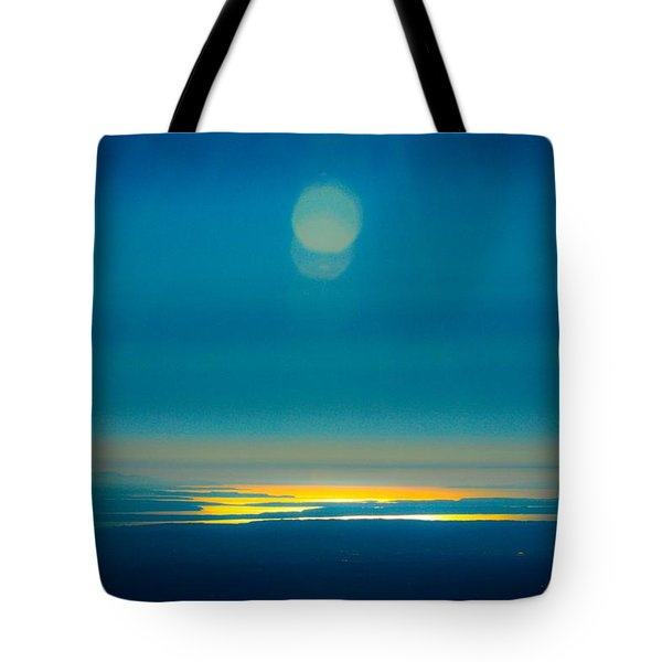 Sun Going Down On The Sound Tote Bag