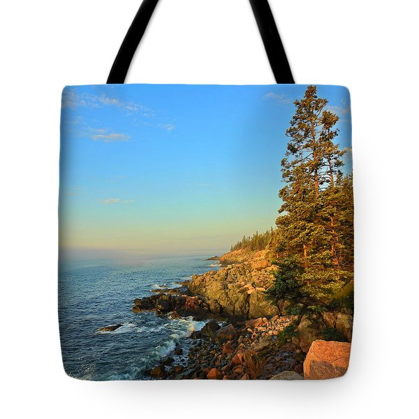 Sun-kissed Coast Tote Bag