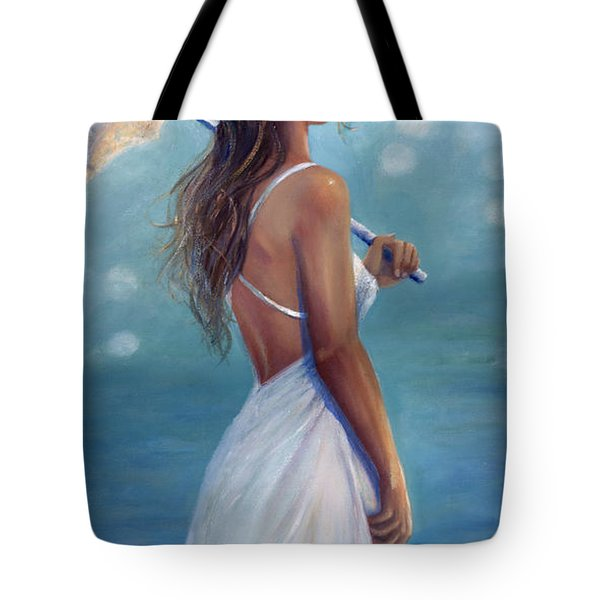 Tote Bag featuring the painting Sun Kissed by Michael Rock
