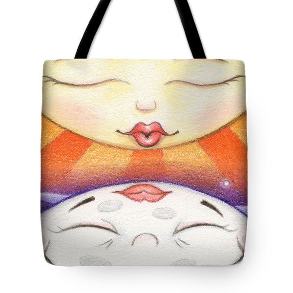 Sun Kissed Moon Tote Bag by Amy S Turner
