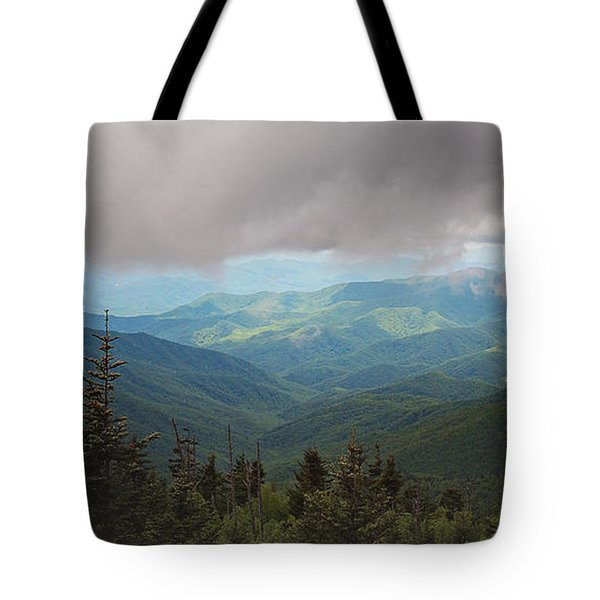 Sun-kissed Mountains  Tote Bag by Sally Simon