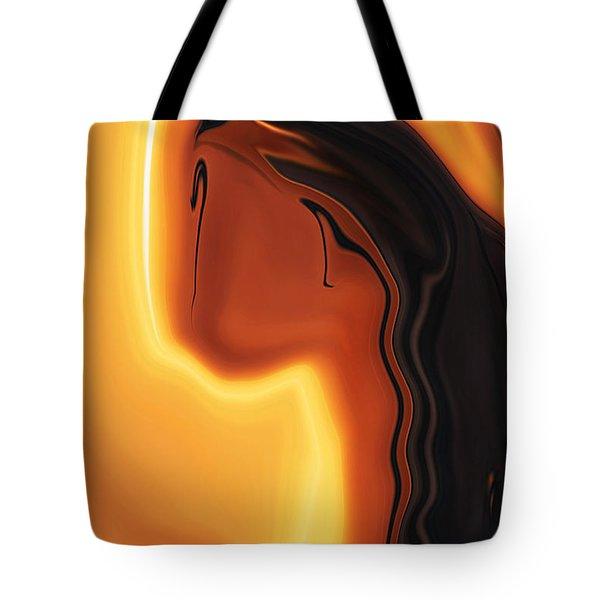 Tote Bag featuring the digital art Sun-kissed by Rabi Khan