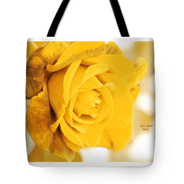 Tote Bag featuring the photograph Sun Kissed Rose by Athala Carole Bruckner