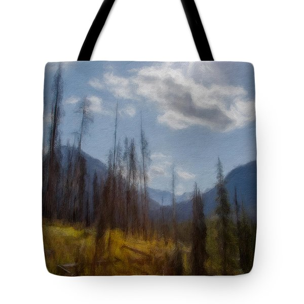 Sun Light In The Forest Tote Bag