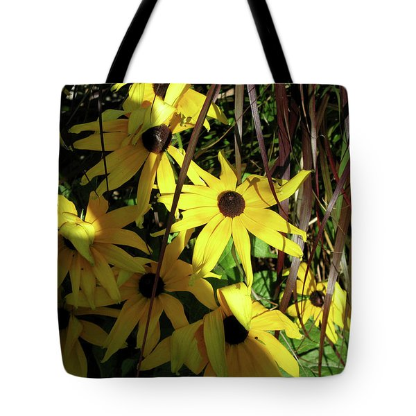 Sun Lit Diasies Tote Bag by Michele Wilson