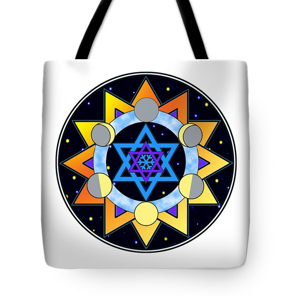 Sun, Moon, Stars Tote Bag