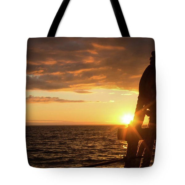 Sun On The Horizon Tote Bag