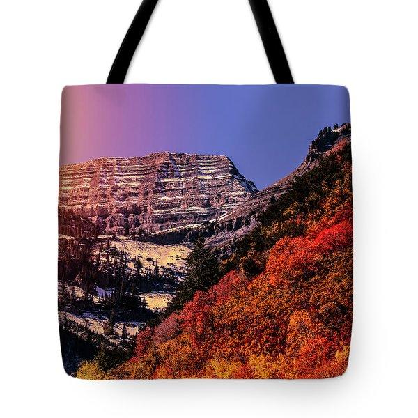 Sun On The Mountain Tote Bag
