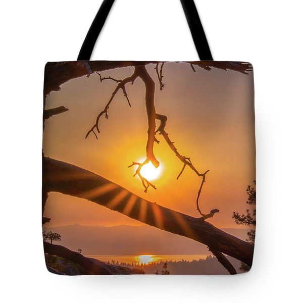 Sun Ornament - Cropped Tote Bag