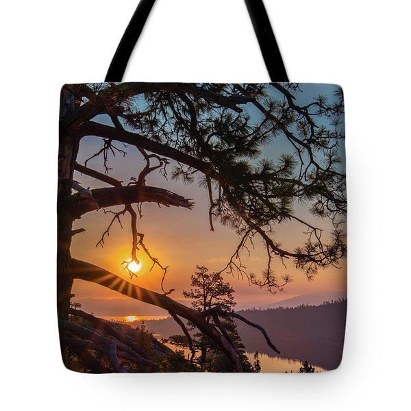 Sun Ornament Tote Bag