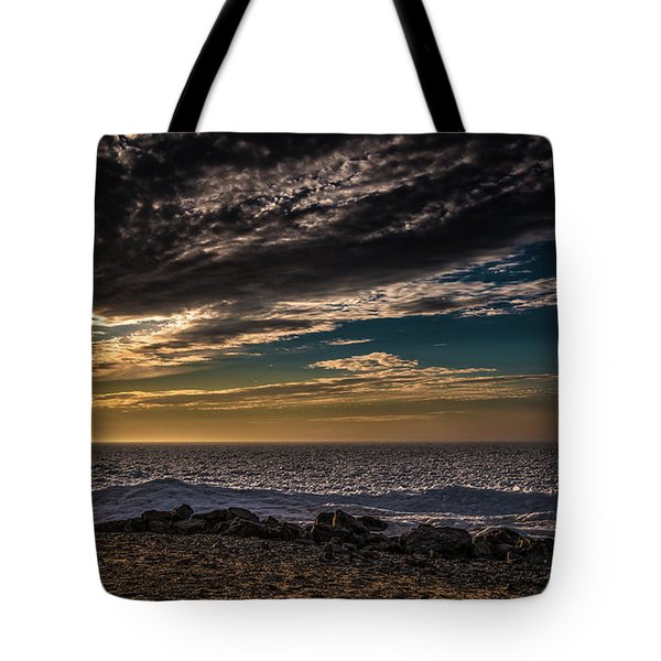 Tote Bag featuring the photograph Sun Peeks Through by Onyonet  Photo Studios