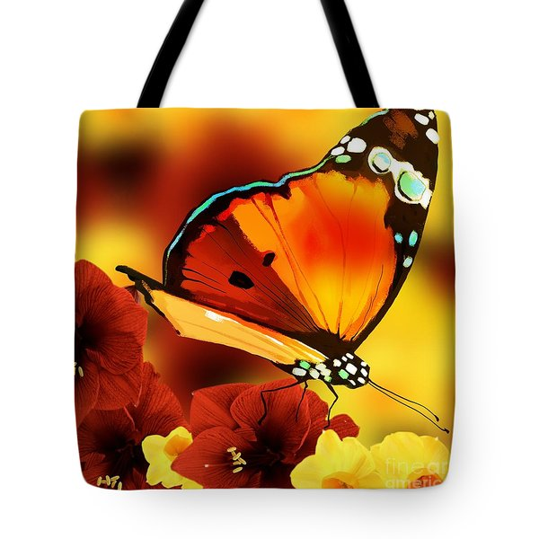 Sun Raised Butterfly Tote Bag